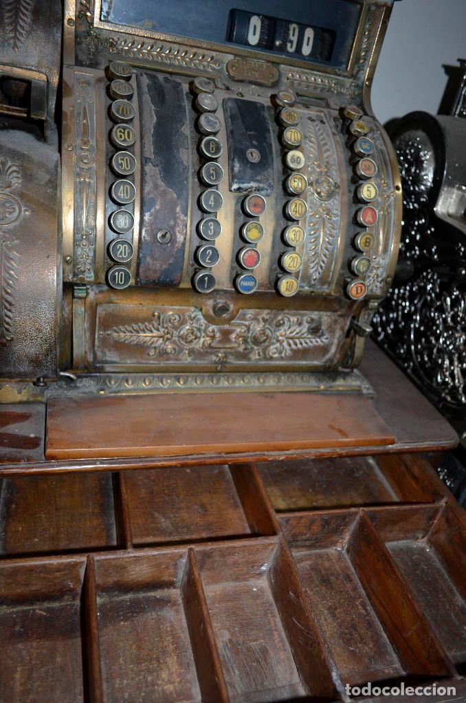 Antigüedades: Antigua caja/máquina registradora. Completa. Funcionando. Recogida local - Foto 2 - 189429016