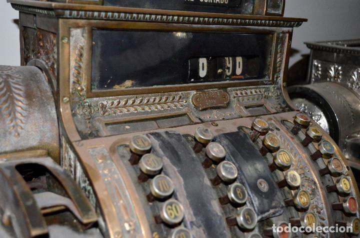 Antigüedades: Antigua caja/máquina registradora. Completa. Funcionando. Recogida local - Foto 4 - 189429016