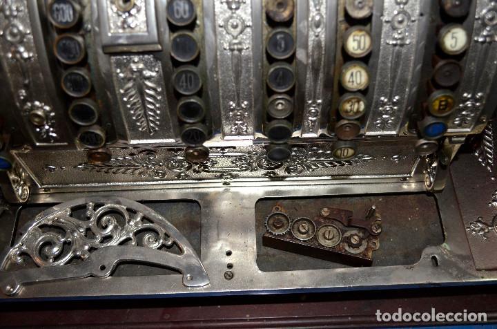 Antigüedades: Antigua caja/máquina registradora. Incompleta. Piezas o reparar. Recogida local - Foto 2 - 189459133
