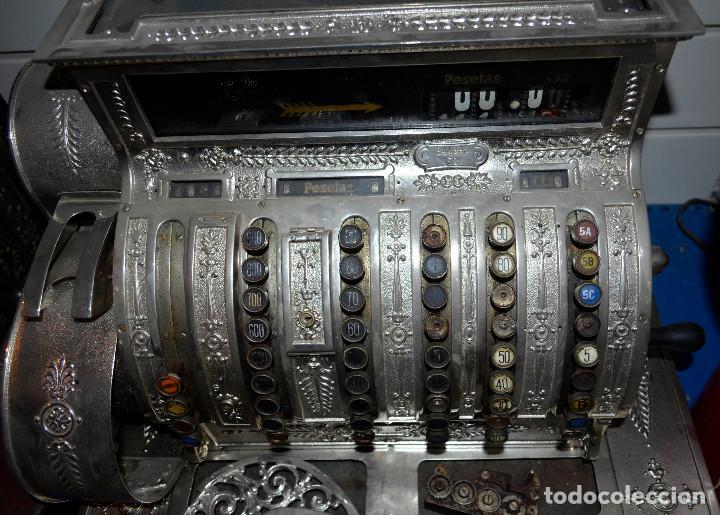 Antigüedades: Antigua caja/máquina registradora. Incompleta. Piezas o reparar. Recogida local - Foto 4 - 189459133