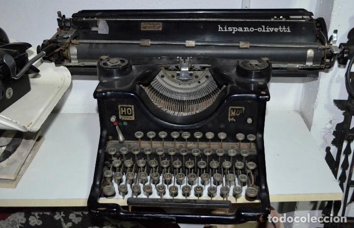ANTIGUA MÁQUINA ESCRIBIR HISPANO-OLIVETTI. CARRO GRANDE. FUNCIONANDO. RECOGIDA LOCAL (Antigüedades - Técnicas - Máquinas de Escribir Antiguas - Olivetti)
