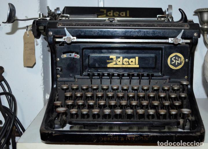 ANTIGUA MÁQUINA ESCRIBIR IDEAL, SEIDEL & NAUMANN. RECOGIDA LOCAL (Antigüedades - Técnicas - Máquinas de Escribir Antiguas - Otras)