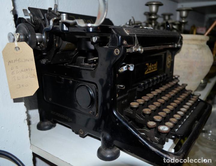 Antigüedades: Antigua máquina escribir Ideal, Seidel & Naumann. Recogida local - Foto 2 - 189460706