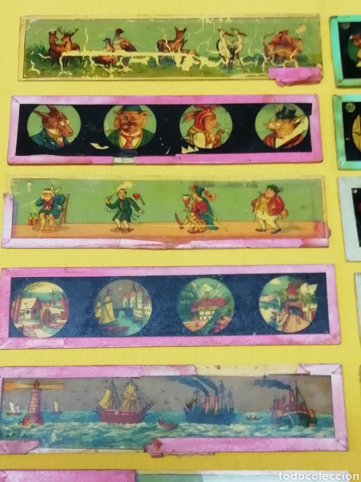 Antigüedades: Cristales linterna magica - Foto 2 - 189541697