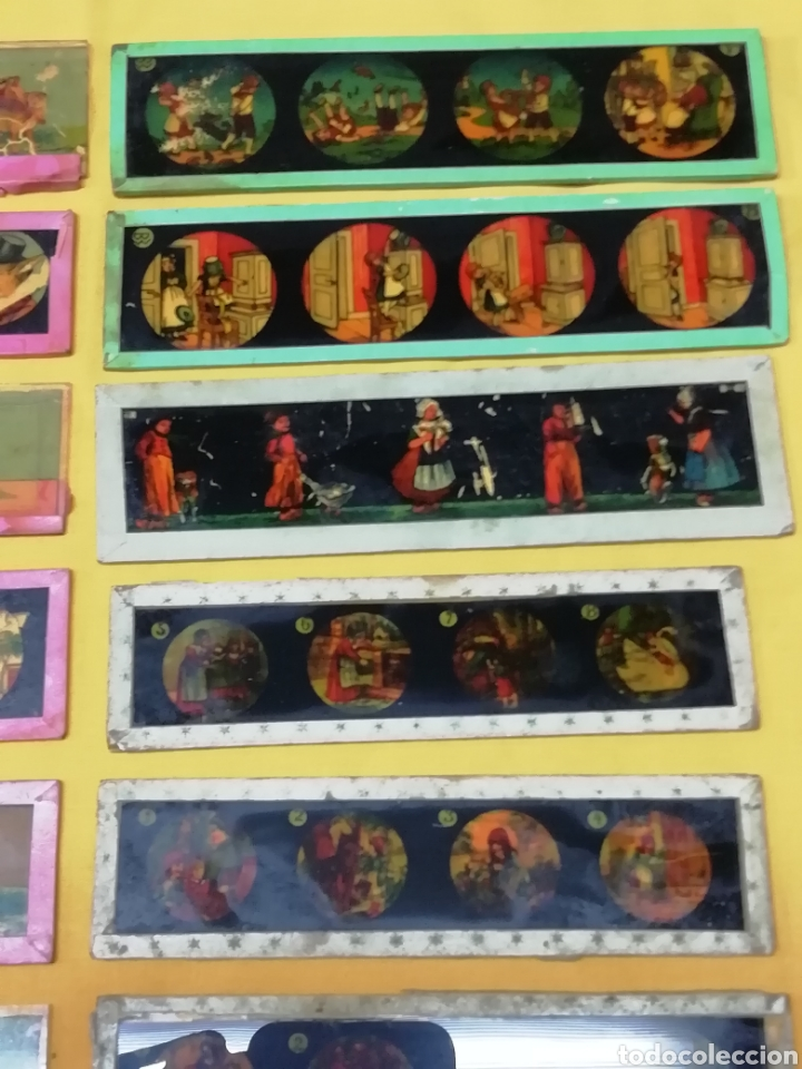 Antigüedades: Cristales linterna magica - Foto 3 - 189541697