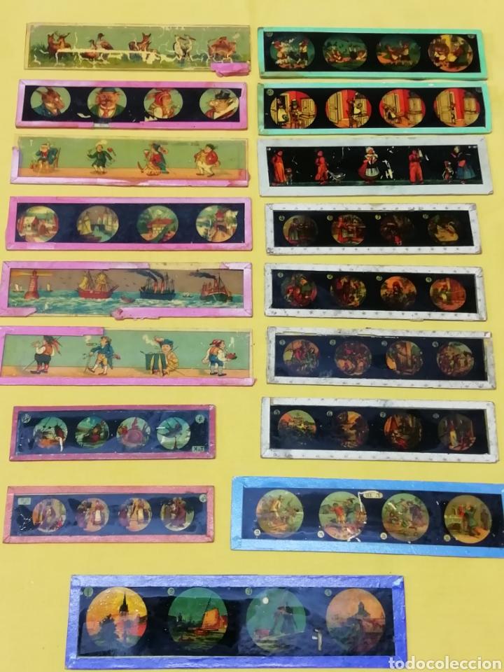 CRISTALES LINTERNA MAGICA (Antigüedades - Técnicas - Aparatos de Cine Antiguo - Linternas Mágicas Antiguas)