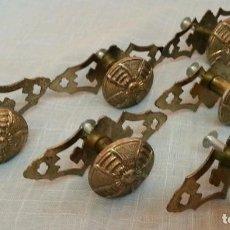 Antigüedades: TIRADORES DE PUERTAS. POMOS. CONJUNTO DE 6 UNIDADES.. Lote 189573023