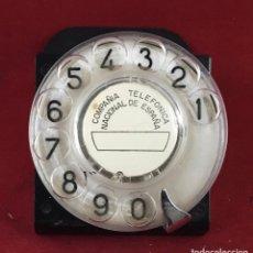 Teléfonos: ANTIGUO DIAL, PARA CENTRALITAS, MESA PRUEBAS, ETC., DE STANDARD ELÉCTRICA Y LA CTNE. Lote 189584025