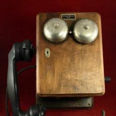 Teléfonos: ANTIGUO TELÉFONO MADERA 5504-H, DE STANDARD ELÉCTRICA, PARA LA CTNE.. Lote 189585536