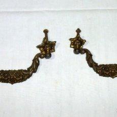 Antigüedades: 2 ASAS TIRADORES DE BRONCE.. Lote 189601830