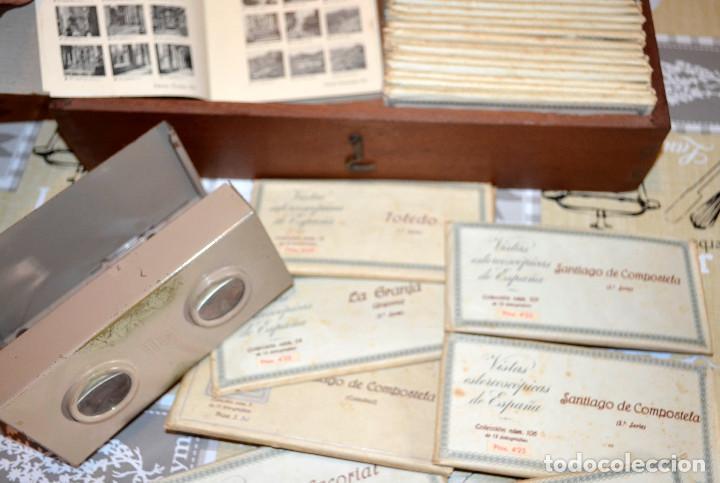 VISOR ESTEREOSCÓPICO RELLEV. ESTEREOSCOPIA ESPAÑA. + DE 550 VISTAS! (Antigüedades - Técnicas - Aparatos de Cine Antiguo - Visores Estereoscópicos Antiguos)