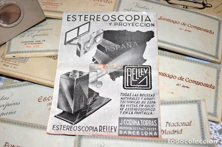 Antigüedades: Visor estereoscópico RELLEV. Estereoscopia España. + de 550 vistas! - Foto 6 - 189626176