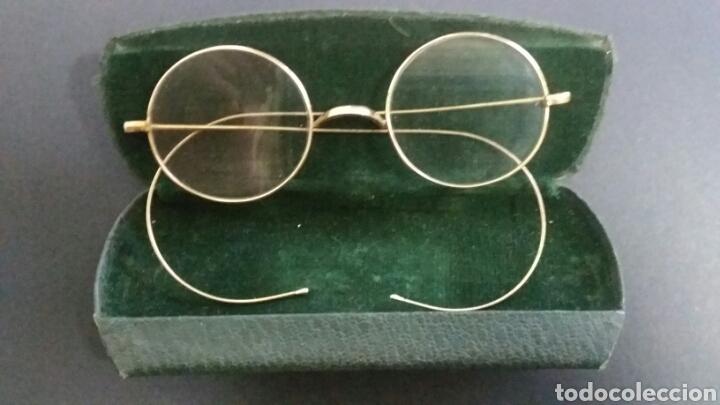 ANTIGUAS GAFAS QUEVEDO. ÓPTICO FERNANDO ARRUGA BARCELONA (Antigüedades - Técnicas - Instrumentos Ópticos - Gafas Antiguas)