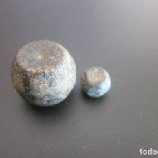 Antigüedades: 2 PONDERALES EXAGUIAS SEXTANS Y 2 DRACMAS. Lote 189649911