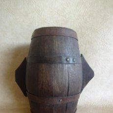 Antigüedades: ANTIGUO CUENCO MEDIDA DE GRANO DOBLE MEDIDA MADERA. Lote 38853777