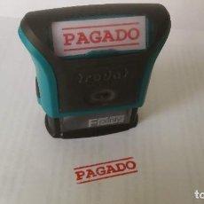 Antigüedades: SELLO ENTINTADO ''PAGADO'' TRODAT 4911 PRINTY ERGONOMICO COLOR ROJO. Lote 189683740