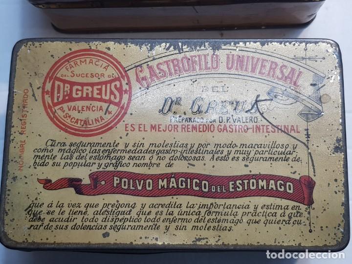 Antigüedades: Cajas Farmacia Gastrofilo Universal distintas 1 extremadamente rara primera generación - Foto 2 - 240345560