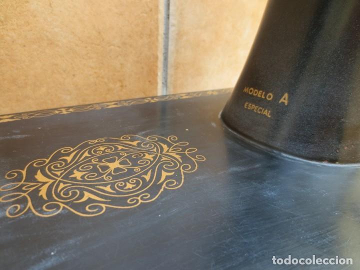 Antigüedades: MAQUINA DE COSER SIGMA - MODELO A - Estarta y Ecenarro S.A - Elgóibar España . - Foto 8 - 189726388