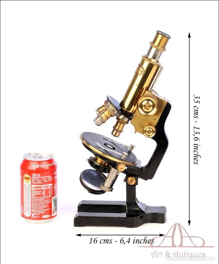 Antigüedades: Antiguo Microscopio Alemán Ed. Messter. Alemania, Circa 1910. - Foto 2 - 189730418
