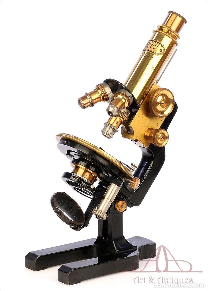 Antigüedades: Antiguo Microscopio Alemán Ed. Messter. Alemania, Circa 1910. - Foto 8 - 189730418