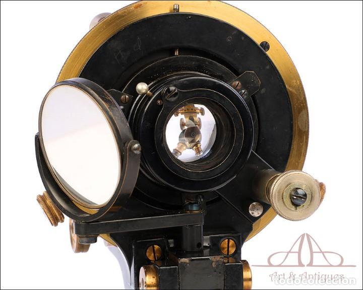 Antigüedades: Antiguo Microscopio Alemán Ed. Messter. Alemania, Circa 1910. - Foto 22 - 189730418