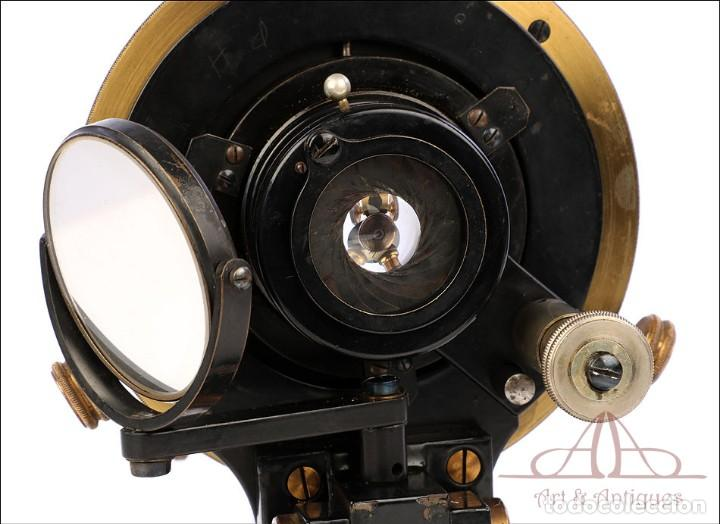 Antigüedades: Antiguo Microscopio Alemán Ed. Messter. Alemania, Circa 1910. - Foto 23 - 189730418