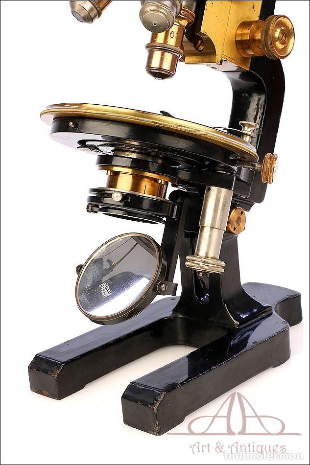 Antigüedades: Antiguo Microscopio Alemán Ed. Messter. Alemania, Circa 1910. - Foto 26 - 189730418