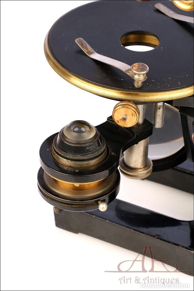 Antigüedades: Antiguo Microscopio Alemán Ed. Messter. Alemania, Circa 1910. - Foto 27 - 189730418