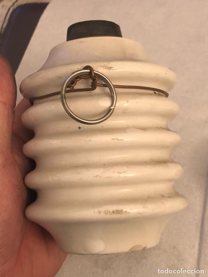 Antigüedades: Lote de 2 fusibles y un interruptor antiguos, porcelana - Foto 6 - 189786078