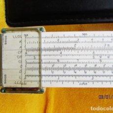 Antigüedades: REGLA DE CALCULO VINTAGE 1947 DÓRICO K & E CO. N9081-3 FUNDA DE PIEL KEUFFEL & ESSER . Lote 189795105