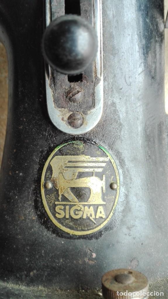 Antigüedades: Máquina de coser antigua Sigma - Foto 2 - 189817266
