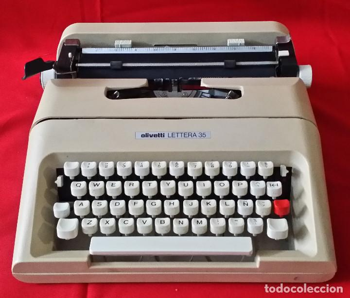MAQUINA DE ESCRIBIR OLIVETTI LETTERA 35 (Antigüedades - Técnicas - Máquinas de Escribir Antiguas - Olivetti)