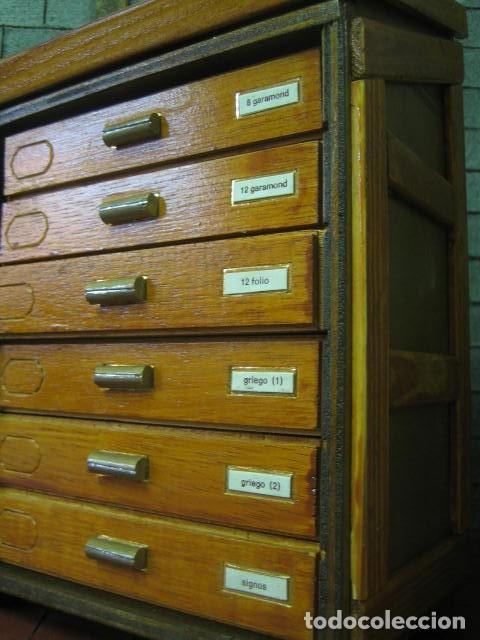 Antigüedades: imprenta, maqueta chibalete miniatura con letras - objeto decorativo - Foto 7 - 189885248