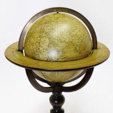 Antigüedades: 1840C - PEQUEÑO GLOBO TERRÁQUEO TERRESTRIAL GLOBE NEWTON 12CM. RARÍSIMO EN ESTE MONTAJE. BUEN ESTADO. Lote 189926981