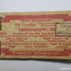 Antigüedades: PAQUETE COMPLETO DE TIRA PAPEL INDICADO . Lote 189940963