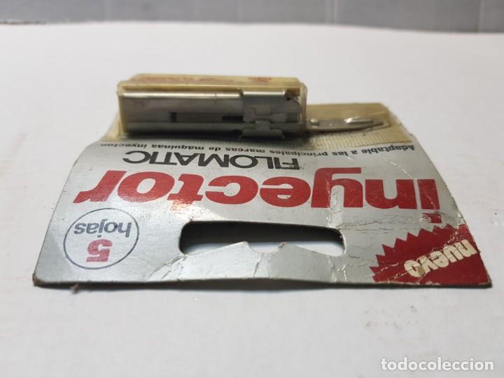 Antigüedades: Recambio de cuchillas afeitar Inyector de Filomatic en blister escaso - Foto 3 - 189954628