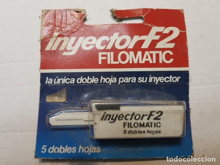 RECAMBIO DE CUCHILLAS DE AFEITAR INYECTOR F2 DE FILOMATIC EN BLISTER ESCASO (Antigüedades - Técnicas - Barbería - Hojas de Afeitar Antiguas)