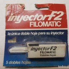 Antigüedades: RECAMBIO DE CUCHILLAS DE AFEITAR INYECTOR F2 DE FILOMATIC EN BLISTER ESCASO. Lote 189954826