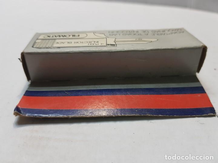 Antigüedades: Recambio de cuchillas afeitar Injector Blade de Filomatic en blister escaso - Foto 3 - 189955900