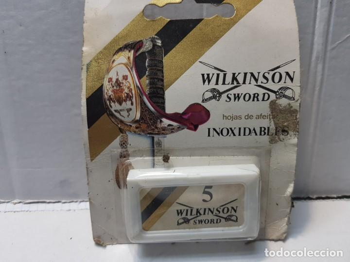 RECAMBIOS DE CUCHILLAS DE AFEITAR WILKINSON EN BLISTER ORIGINAL ESCASO (Antigüedades - Técnicas - Barbería - Hojas de Afeitar Antiguas)