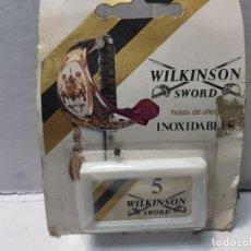 Antigüedades: RECAMBIOS DE CUCHILLAS DE AFEITAR WILKINSON EN BLISTER ORIGINAL ESCASO. Lote 189963398