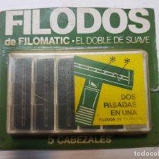 Antigüedades: RECAMBIOS DE CUCHILLAS DE AFEITAR FILODOS DE FILOMATIC EN BLISTER ORIGINAL ESCASO. Lote 189964271