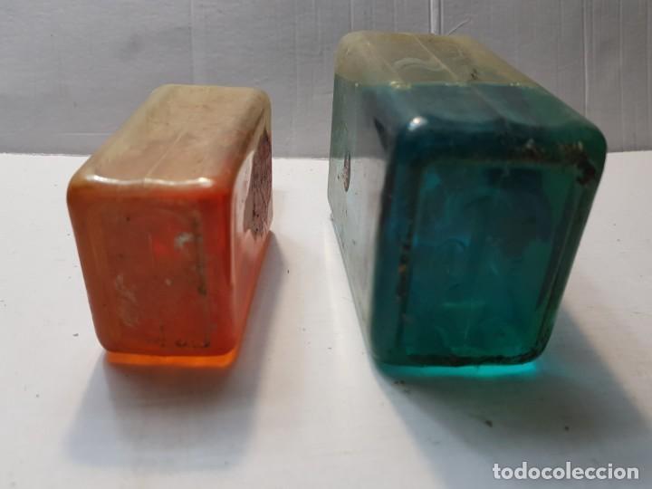 Antigüedades: Botellas antiguas contra la caída del Pelo-Abrotano Macho- llenas - Foto 4 - 189967447