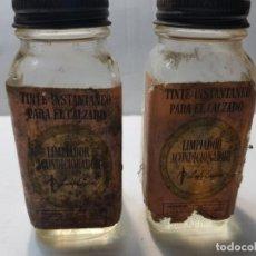 Antigüedades: BOTES ANTIGUOS DE TINTE INSTANTANEO LADY ESQUIRE CASI LLENOS . Lote 189968187