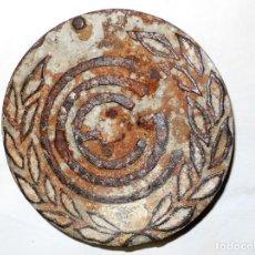 Antigüedades: ANTIGUA TAPA DE AGUAS EN HIERRO FUNDIDO. Lote 190011923