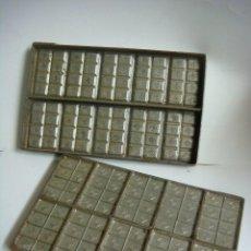 Antigüedades: MOLDE ANTIGUO PARA HACER TABLETAS DE CHOCOLATE LOTE DE 2 MOLDES. Lote 190028871