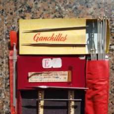 Antigüedades: AGUJAS GANCHILLO ANTIGUAS. Lote 190128860