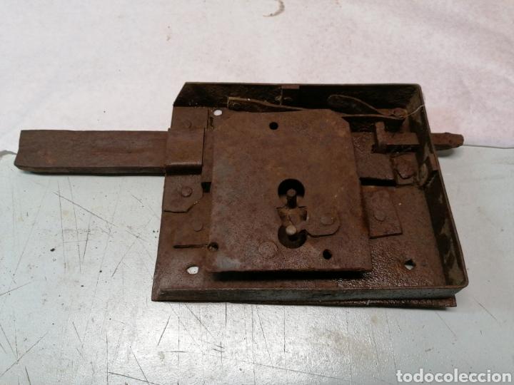 CERRADURA PORTÓN (Antigüedades - Técnicas - Cerrajería y Forja - Cerraduras Antiguas)