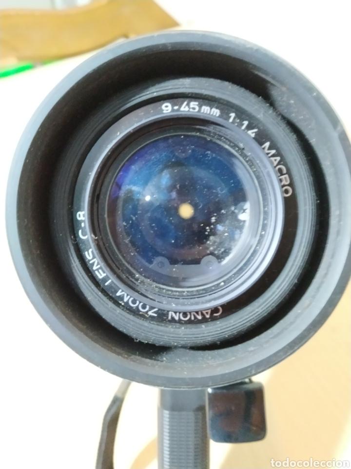 Antigüedades: Camara Super 8 Canon Canosound 514XL-S - años 70/80 - Foto 7 - 190317396