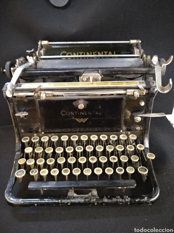 MAQUINA DE ESCRIBIR CONTINENTAL. FUNCIONA (Antigüedades - Técnicas - Máquinas de Escribir Antiguas - Continental)